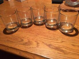 5 Glenfarclas Whisky Tumblers.