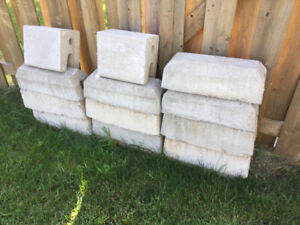 Cement blocks for Tempo (car shelter)