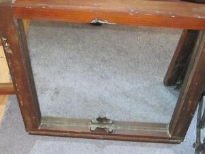 Antique Pine Mirror, Antique SHABBY Mantel Etched Mirror