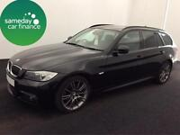 £240.10 PER MONTH BLACK 2012 BMW 318D 2.0 SPORT PLUS ESTATE MANUAL DIESEL