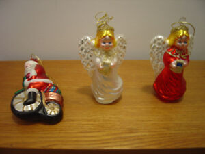 Large Mercury Glass Teddy Bears & Angels