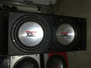 2 12s mtx subs with a 1200w kicker amp and a high low converter