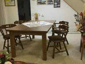 Older style IKEA Morbylaga dinner table & 4 x pub chairs
