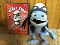 Crazy frog DVD and stuffed toy