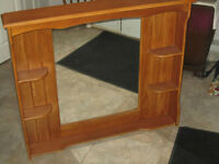 Hanging Wall Hutch with Mirror