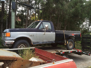 Parting out 1990 Ford F250 4x4 Dana 50 Sterling ZF5 7.3L