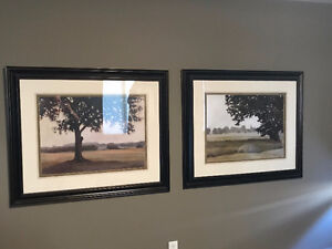 Pair of beautiful tree pictures