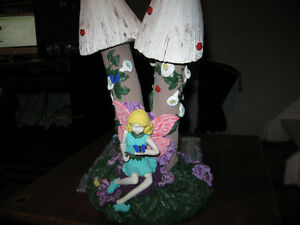 Fairy Mushroom Stand with Silver Globe