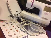 Janome Memory Craft 350e embroidery machine and Digitiser