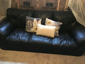 Guc black leather couch!!!