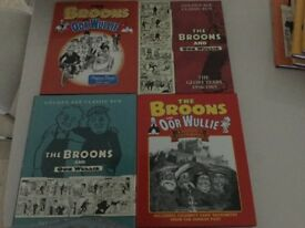 The Broons and Oor Wullie hard backed books 16 in total