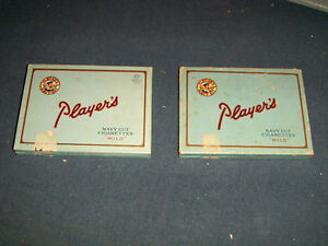 2 VINTAGE PLAYER'S CARDBOARD BOXES-1940/50'S-COLLECTIBLE!