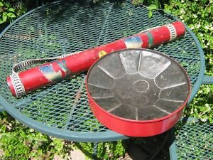 STEEL DRUM BAHAMAS AND RAIN STICK MADE OUT OF BAMBO