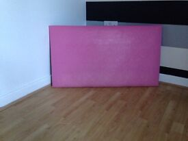 SINGLE BED HEADBOARD pink faux leather