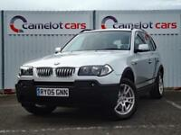 2005 BMW X3 2.0 SE DIESEL SILVER 4X4 TOW BAR PARKING SENSORS 12M MOT 6M WARRANTY