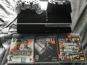 Sony PS3 Fat..3 games..2controllers