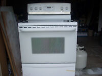 white glass top oven
