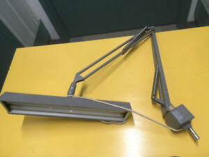 Vintage Luxo Dual Fluorescent Articulating Drafting Lamp