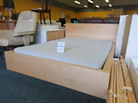 Kingsize bed and mattress IKEA