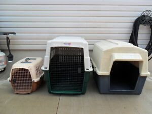 XL Dog Crate Kennel & Dog House & L Travel Carrier