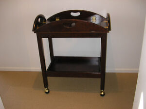 Butler Rolling Tray Cart