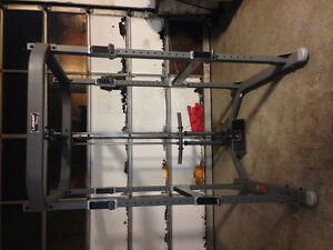 Lamar power cage with pulleys, bench, 150lb's and bar