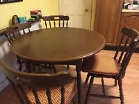 Free: Dining Table & Four Chairs