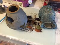 Fish tank ornament pots