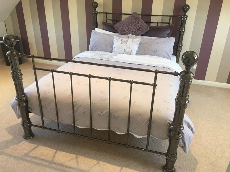 Kingsize black nickel bed frame