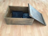 vintage chest / wooden box / trunk