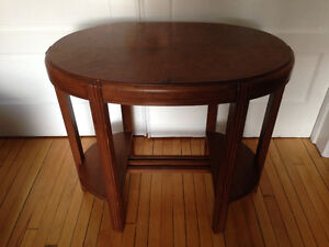 Antique wood console/side table