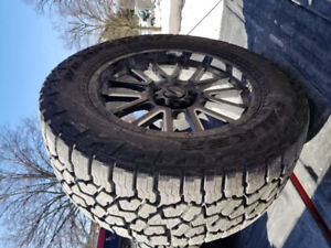 305/55/20 fallen wildpeak tires and rims for sale