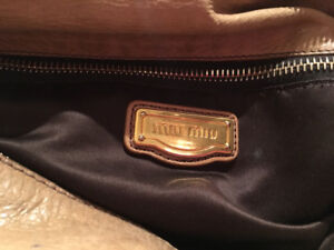 Authentic Mui Mui vitello lux bow satchel for sale