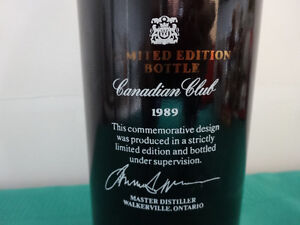 Premium Canadian Club Limited Edition 750ml bottle (empty) Cornwall Ontario image 2