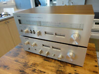 VINTAGE YAMAHA CA-410 AMP CT-810 TUNER STEREO 50W RMS IMPECCABLE