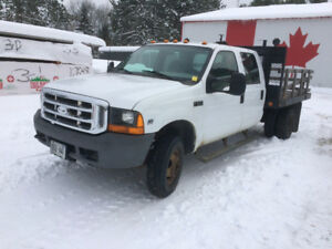 2000 Ford F-350 4x4 Flatbed Dually