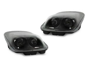DEPO Black / Clear Projector Headlights For 97 98 99 00 01-04 Chevy Corvette C5