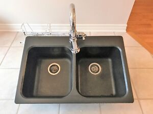 Blanco Granite Sink with Moen Faucet Included