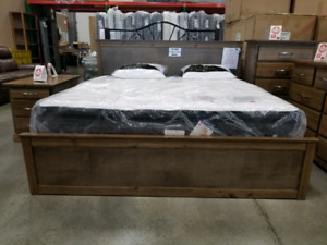 Solid wood made in BC bed frames starting at 999