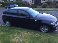 2007 07 Black BMW 118d ES 5 Door