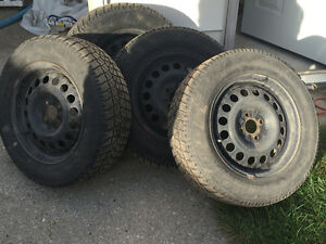 Selling 4 Winter Tires on Rims