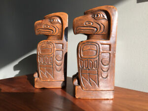Serres Livres Eagle House Post Kwakiutl Indian Tribe * Bookends