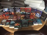 Large collection of Clive Cussler novels, mixture of hardback and softback