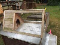 Rabbit hutch chicken run guni pig run