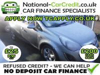 Vauxhall Corsa 1.4I VVT A/C SXI Good / Bad Credit Car Finance (silver) 2012