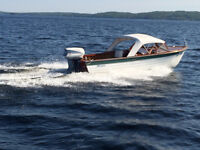 1959 Thompson 17 Ft. Wooden Lapstrake Boat