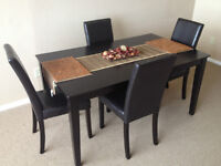 Wood Sturdy Dinning table and chairs