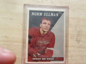 NORM ULLMAN 1957-58  TOPPS HOCKEY CARD