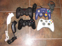 plusieur manette x-box-game cube et play station