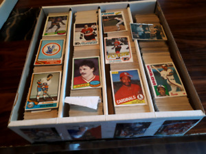 Cartes hockey 1974 a 1982 lots (3,000) cartes+baseball 1976 .